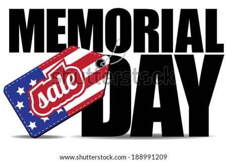 Memorial Day Sale icon EPS10 vector, grouped for easy editing. No open shapes or paths. - stock vector