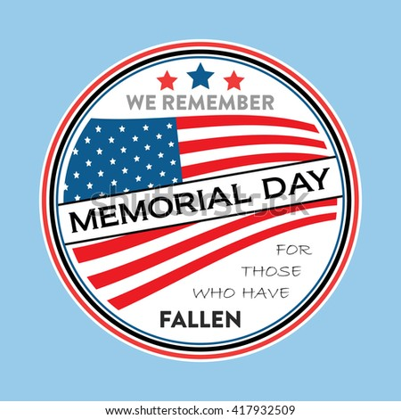 Memorial Day Vector With American Flag