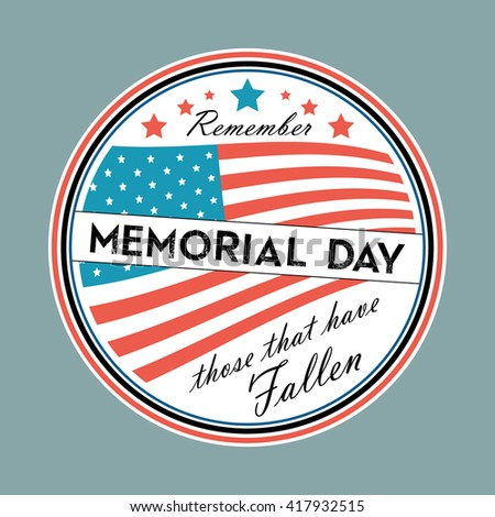 Memorial Day Vector With American Flag In Dull Colors