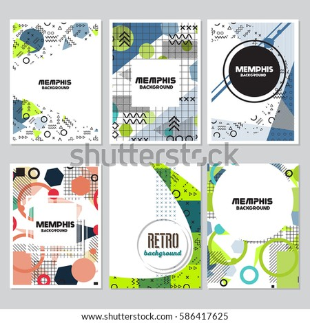memphis background style Design Template,Vector Illustration