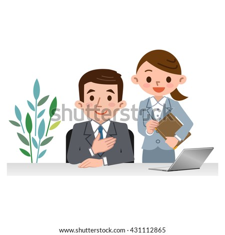 Men and women of consultants - stock vector