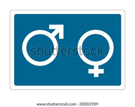 men and women sign - stock vector