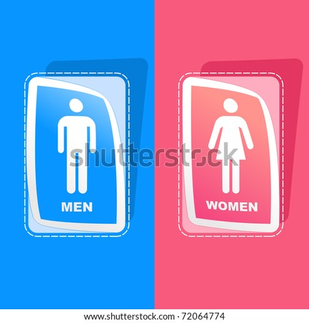Men and women sign. Graphic elements set. - stock vector
