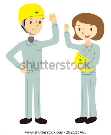 Men and women workers - stock vector