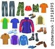 men clothes - stock vector