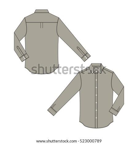 Men Dress Shirt Template Stock Vector 523000795 Shutterstock