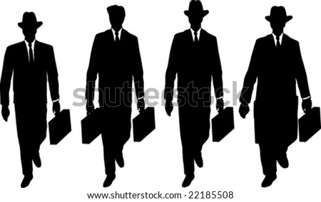 Men in black: template of silhouettes