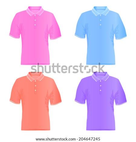 Men polo shirts. Vector illustrations. - stock vector