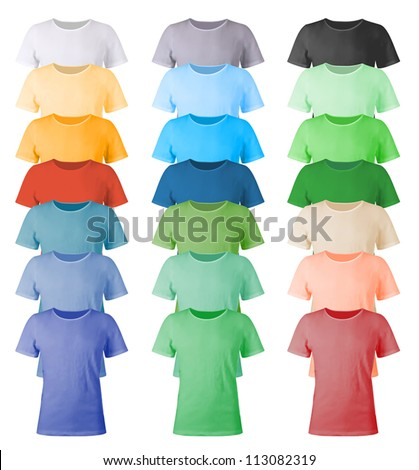 Men's blank t-shirts template. - stock vector