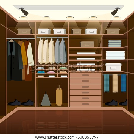 Menu0027s Dressing Room Design. Indoor Domestic Changing Or Waiting Room For  Wardrobe Keeping. Clothes