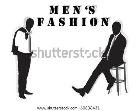 Men's Fashion. - stock vector