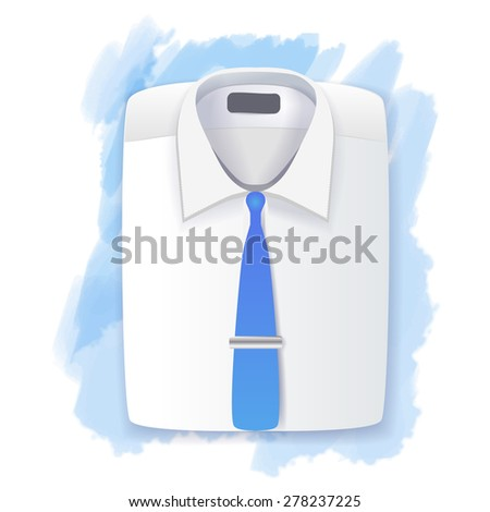 Men's folded shirt and tie