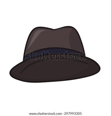 Men's hat isolated illustration on white background - stock vector