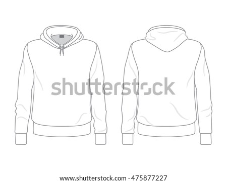 Mens Hoodie Template Front Back View Stock-Vektorgrafik 475877227 ...