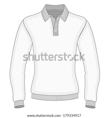Mens long sleeve polo shirt design stock vector 179334917 for Collar shirt design template