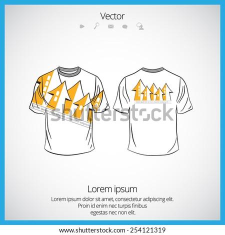Men's shirt template - stock vector