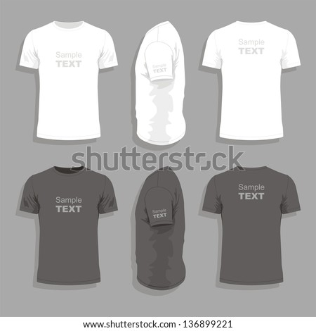 Men's t-shirt design template - stock vector