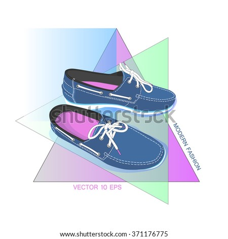 Men shoe icon sign. Men footwear. Vector illustration. - stock vector