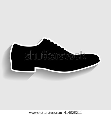 mens shoe icon stock illustration 261765149