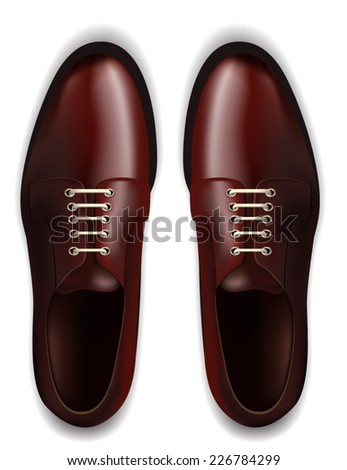 Men Shoes Isolated on White - stock vector