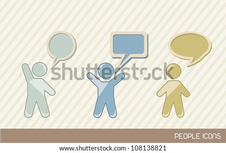 men sign with balloons text, vintage. vector illustration - stock vector