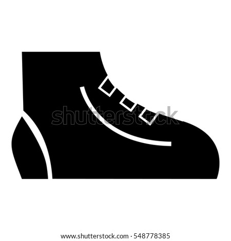 Men sport sneakers icon. Simple illustration of men sport sneakers vector icon for web