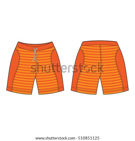 Men Sport Sweat Shorts Template