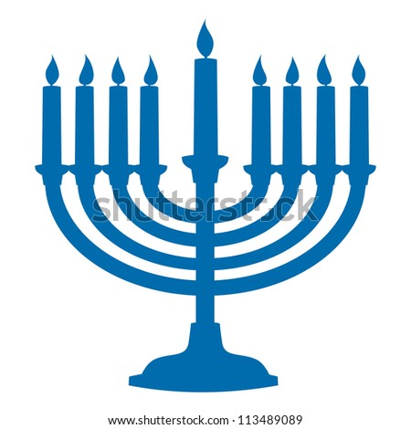 Menorah Silhouette - stock vector
