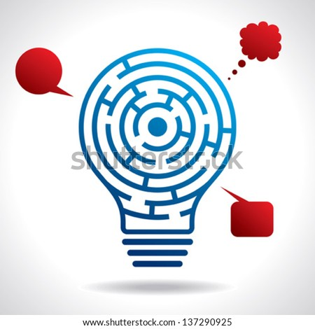 mental game idea concept - stock vector