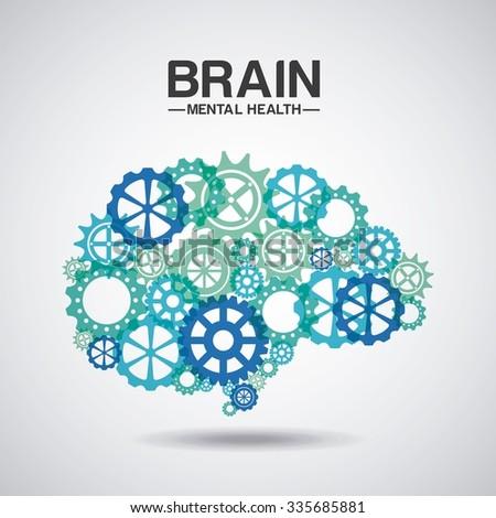 mental health design, vector illustration eps10 graphic  - stock vector