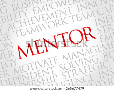 Mentor word cloud, business concept - stock vector