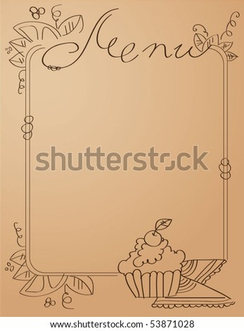 menu - stock vector