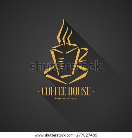 Menu and logo for restaurant, cafe, bar, coffee house - stock vector