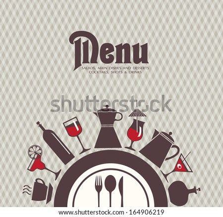 Menu bar, restaurant. - stock vector