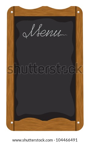 Menu board outside a restaurant or cafe - stock vector