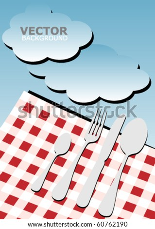 Menu Card Background - Picnic - stock vector