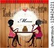 Menu card design for a cute cafe - stock vector
