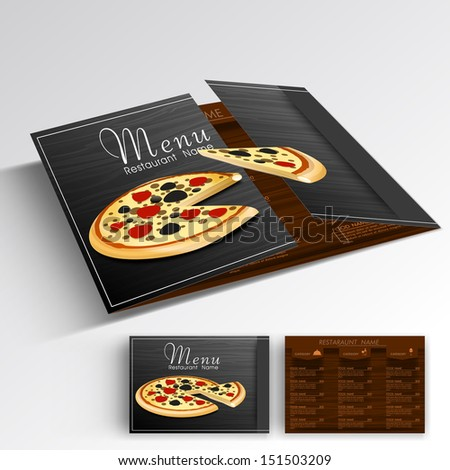 Creative Restaurant Menu Card Design Front Stock Vector 378690286 ...