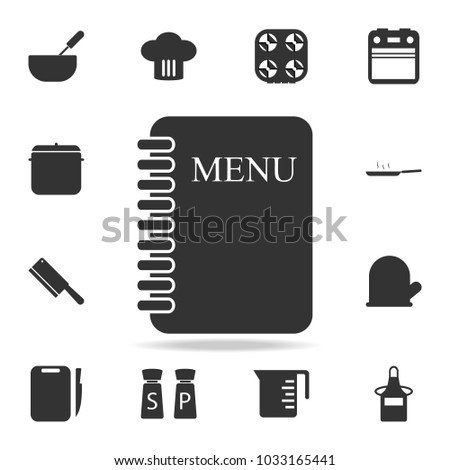 Menu Card Icon Set Chef Kitchen Stock Vector 1033165441 Shutterstock