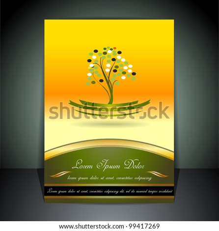 Menu cover - stock vector