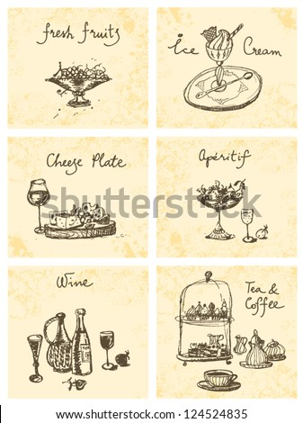 menu cover design - stock vector