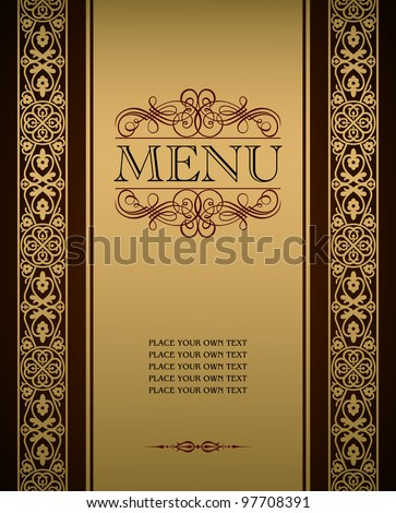 Menu cover vector design - stock vector