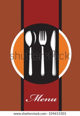 menu design - stock vector