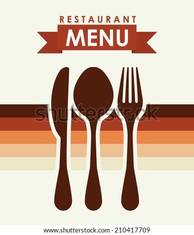 menu design over white   background vector illustration - stock vector