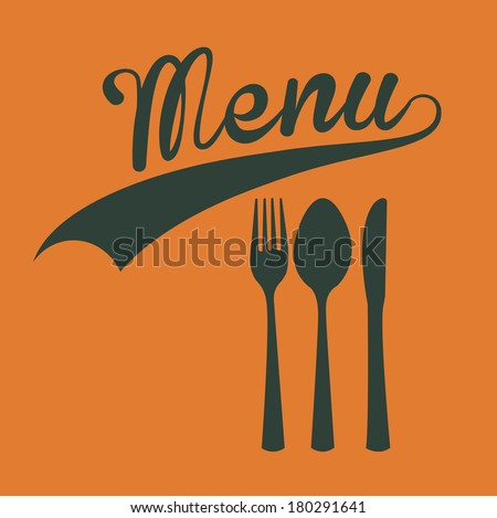 menu design over yellow  background vector illustration