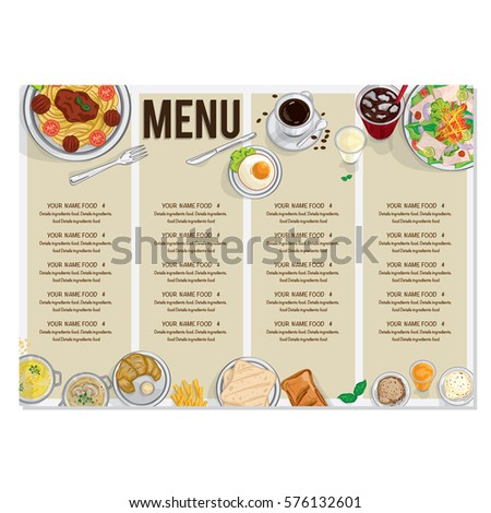 Set persons eating top view menu stock vector 593413985 for Fast food places open on easter sunday