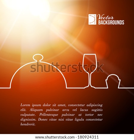 Menu food design. Vector illustration. - stock vector