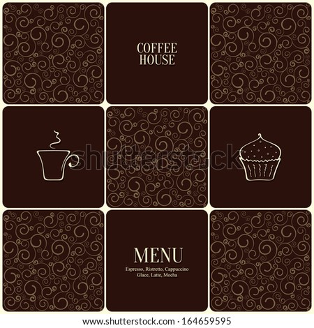 Menu for restaurant, cafe, bar, coffee house - stock vector