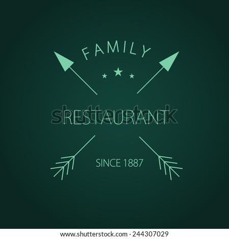 Menu for restaurant, cafe, bar, coffeehouse logo. Vintage vector illustration. - stock vector