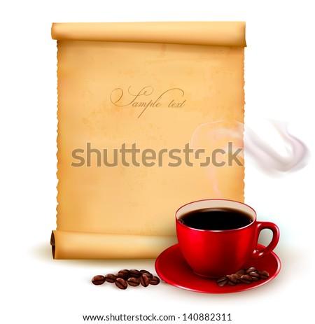 Menu for restaurant. Coffee design template. Vector illustration. - stock vector